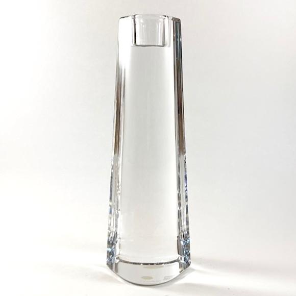 Vintage Orrefors crystal candlestick holder